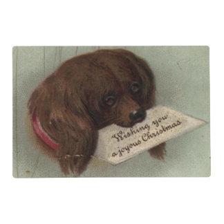Circa 1860: A Victorian Christmas card Placemat