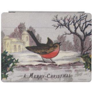 Circa 1865: Un petirrojo tradicional del navidad Cover De iPad