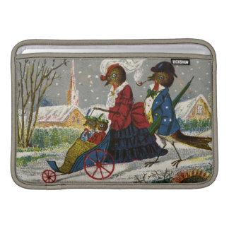 Circa 1870: La familia del petirrojo toma un paseo Funda MacBook