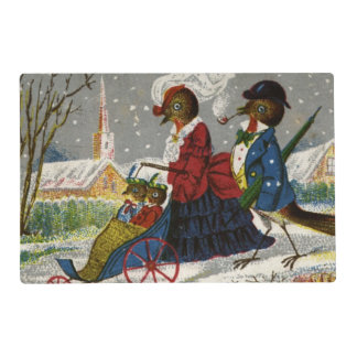 Circa 1870: The Robin family take a stroll Placemat