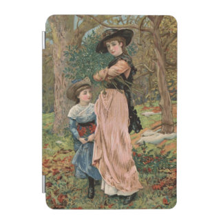 Circa 1870: Young girls collecting mistletoe iPad Mini Cover
