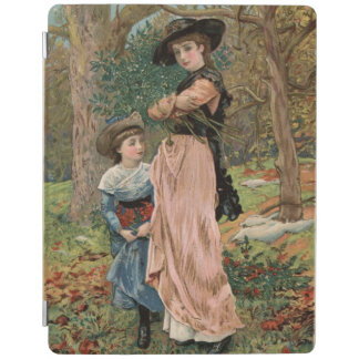 Circa 1870: Young girls collecting mistletoe iPad Smart Cover