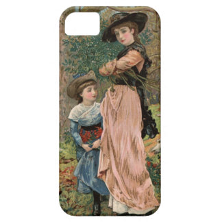 Circa 1870: Young girls collecting mistletoe iPhone SE/5/5s Case