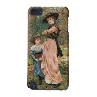 Circa 1870: Young girls collecting mistletoe iPod Touch 5G Cover