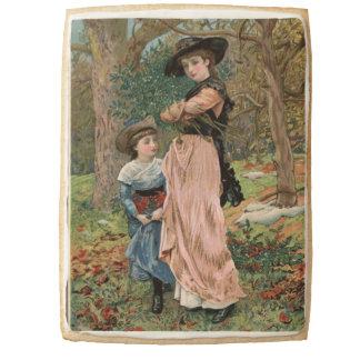 Circa 1870: Young girls collecting mistletoe Jumbo Shortbread Cookie