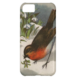 Circa 1871: A robin, with mistletoe in its beak Cover For iPhone 5C