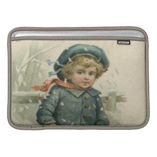 Circa 1871: Un muchacho joven que patina sobre el Funda Macbook Air