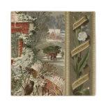 Circa 1871: Una escena hivernal del navidad