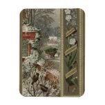 Circa 1871: Una escena hivernal del navidad Imán De Vinilo