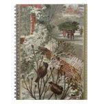 Circa 1871: Una escena hivernal del navidad Libreta Espiral