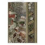 Circa 1871: Una escena hivernal del navidad Tarjetas