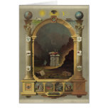 Circa 1872 Masonic Chart Lithography Print Image Greeting Cards