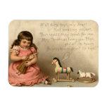 Circa 1873: A Christmas greetings card Rectangular Magnets