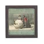 Circa 1879: Hombre del rollo de dos mujeres en nie Caja De Regalo De Calidad