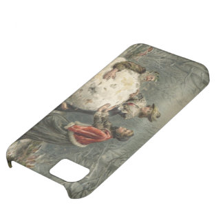 Circa 1879: Two women roll man in snow iPhone 5C Case