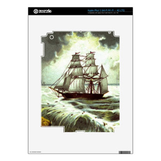 Circa 1880: A Christmas greetings card Decals For iPad 3