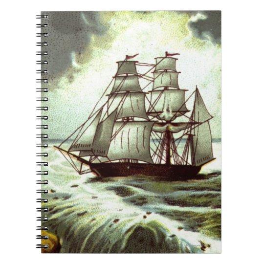 Circa 1880: A Christmas greetings card Notebook