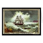 Circa 1880: Una tarjeta de felicitaciones del