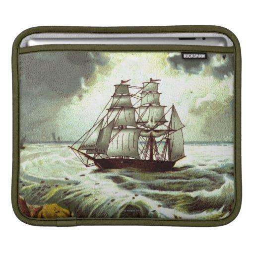 Circa 1880: Una tarjeta de felicitaciones del navi Fundas Para iPads