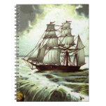 Circa 1880: Una tarjeta de felicitaciones del navi Notebook