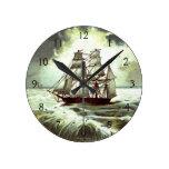 Circa 1880: Una tarjeta de felicitaciones del navi Reloj Redondo Mediano