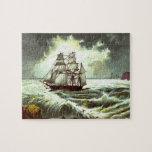Circa 1880: Una tarjeta de felicitaciones del navi Rompecabezas Con Fotos