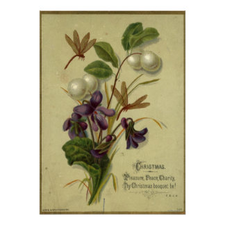 Circa 1881: Snowberries and violets Poster