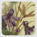 Circa 1881: Snowberries and violets Stickers