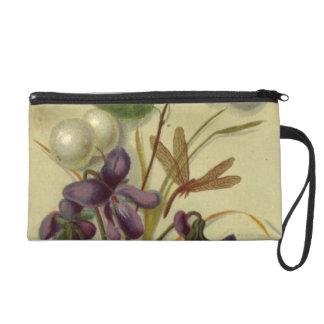 Circa 1881: Snowberries and violets Wristlet Purse
