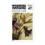 Circa 1881: Snowberries y violetas Estampilla