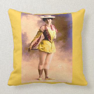 circa 1890 Vera nightclub artiste Throw Pillow