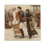 Circa 1899: Hielo-patinadores que disfrutan de