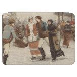 Circa 1899: Hielo-patinadores que disfrutan de nav