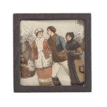Circa 1899: Hielo-patinadores que disfrutan de nav Caja De Joyas De Calidad
