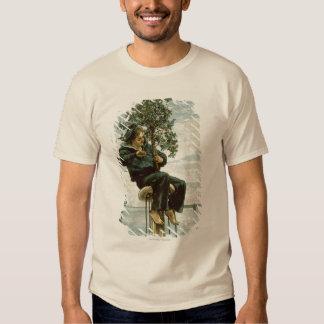 Circa 1900: A sailor ties holly to the masthead T-Shirt
