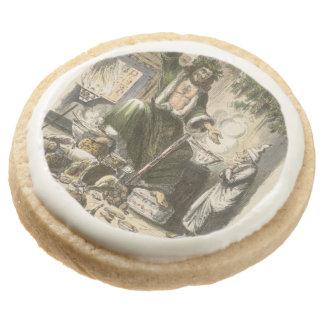 Circa 1900: The Ghost of Christmas Present Round Premium Shortbread Cookie