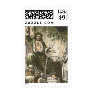 Circa 1900: The Ghost of Christmas Present Postage