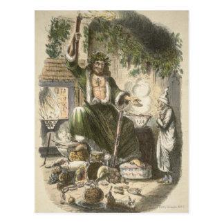 Circa 1900: The Ghost of Christmas Present Postcard