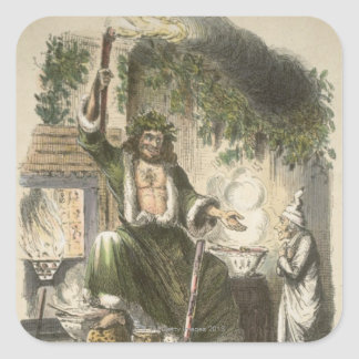 Circa 1900: The Ghost of Christmas Present Square Sticker