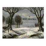 Circa 1900: Un cordón afiló la tarjeta de Navidad Postal