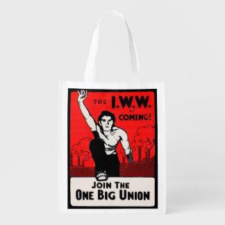 circa 1905 IWW Is Coming Reusable Grocery Bag