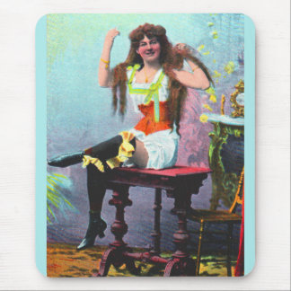 circa 1905 loose woman RPPC no. 1 Mouse Pad