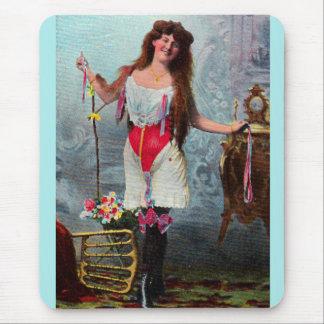 circa 1905 loose woman RPPC no. 2 Mouse Pad