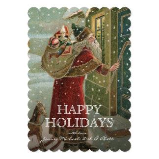 circa 1906:  Santa Claus Card