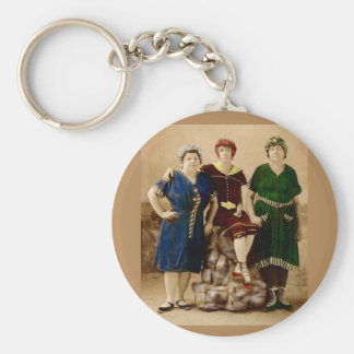 circa 1910 Atlantic City bathing beauties RPPC Keychain