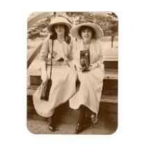 circa 1910 camera girls magnet