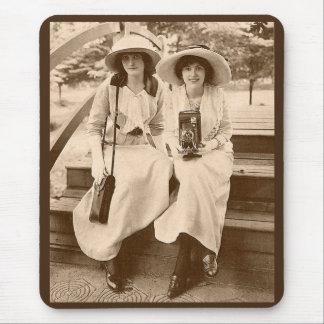 circa 1910 camera girls mouse pad