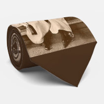 circa 1910 camera girls print neck tie
