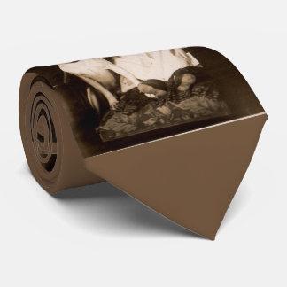 circa 1910 pitbull and baby RPPC print Tie