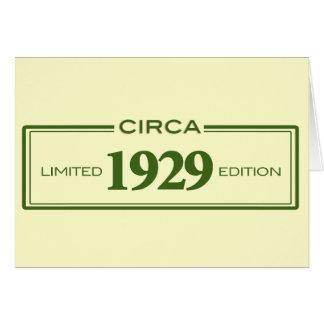 circa 1929 card